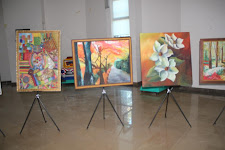 صور للوحات المعلمين الفائزين بتراتيب علي مستوي مدينة بنغازي