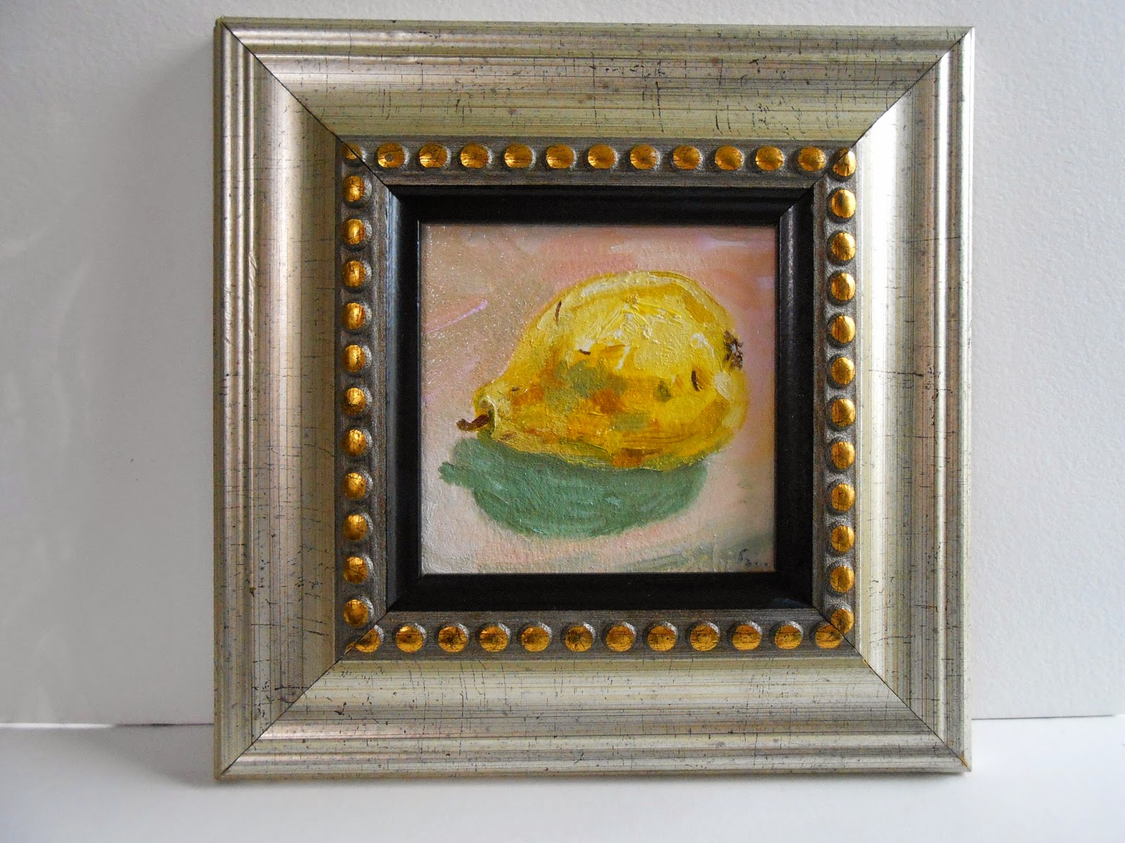 Schifano, small paintings, oil of fruit
