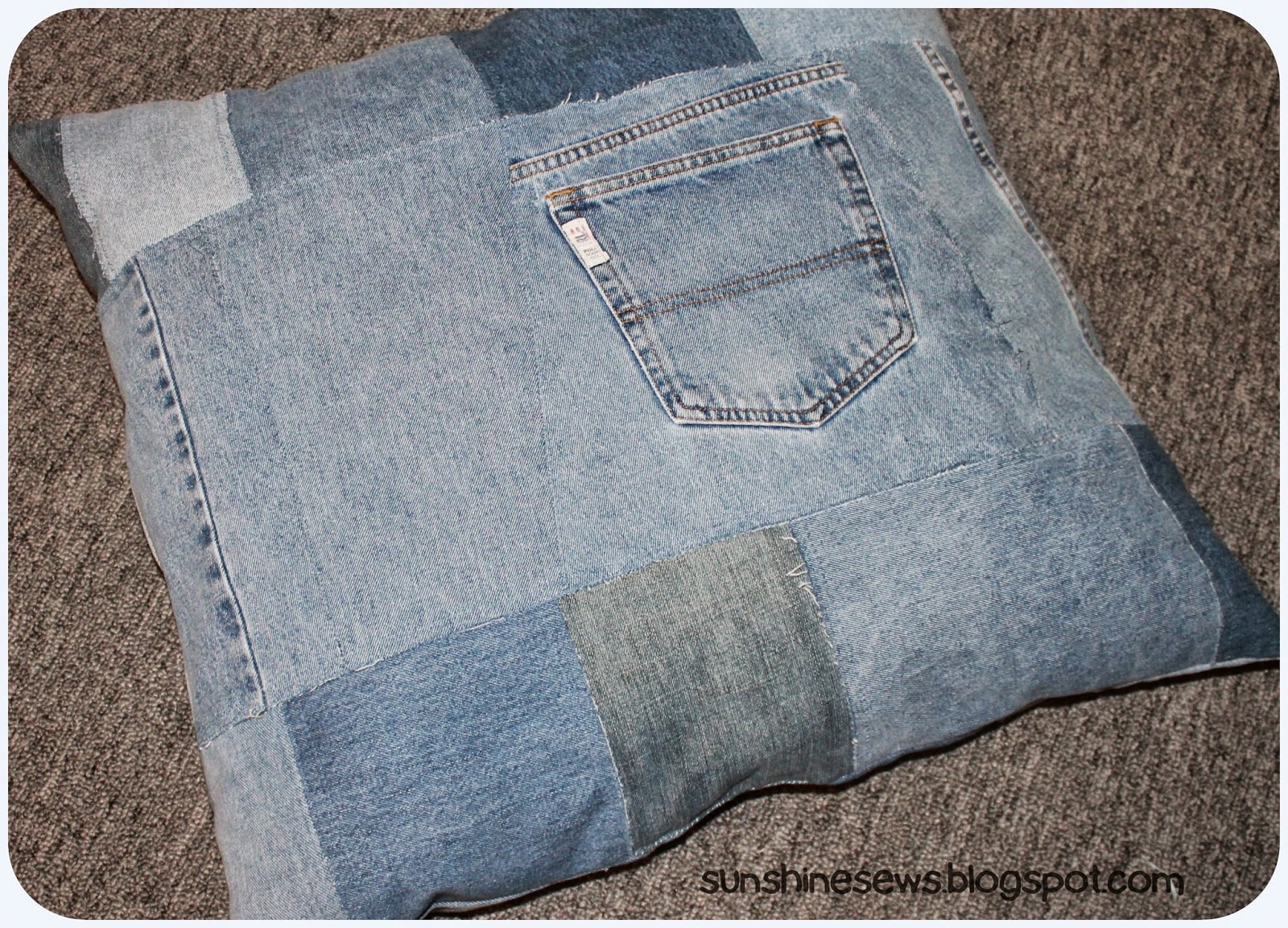 Custom Denim Dog Bed