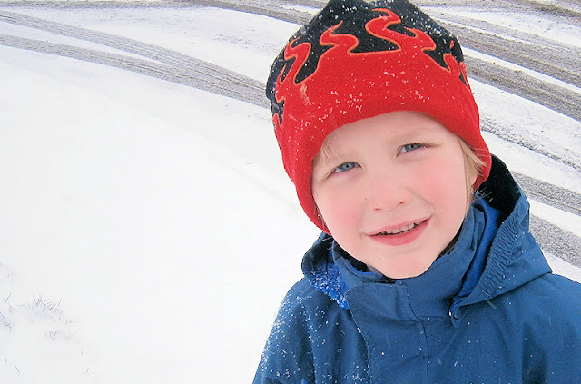 high quality photo of child in snow