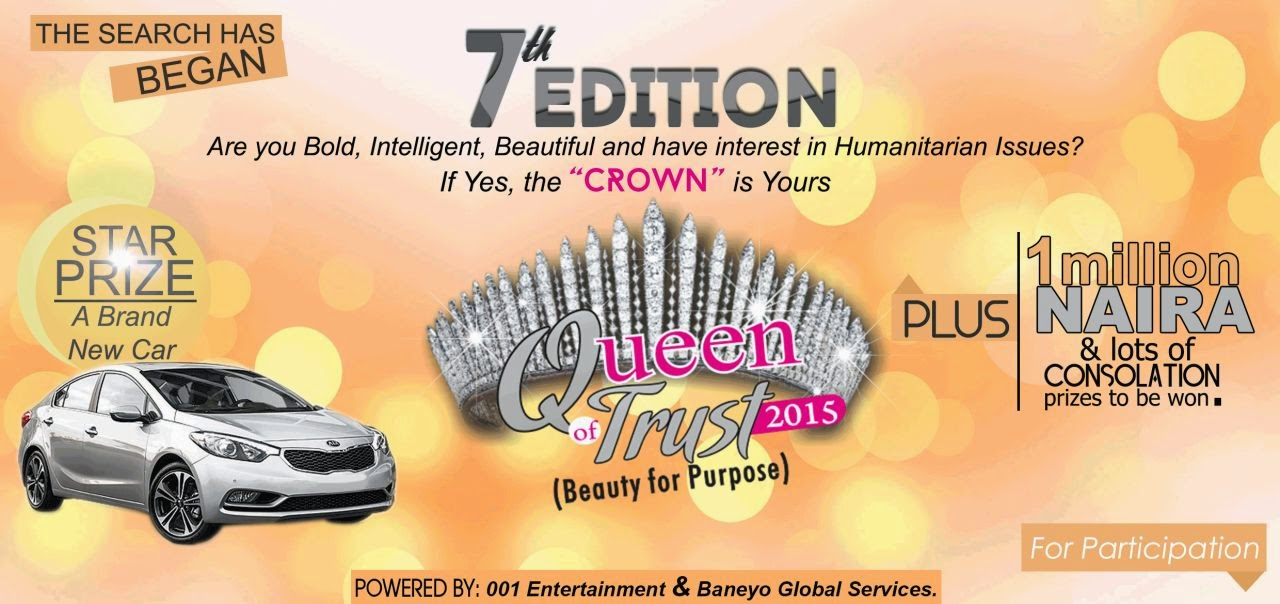 QUEEN OF TRUST 2015 Registration Forms on Sale