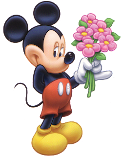 Alfabeto tintineante de Mickey con ramo de flores IMAGEN.