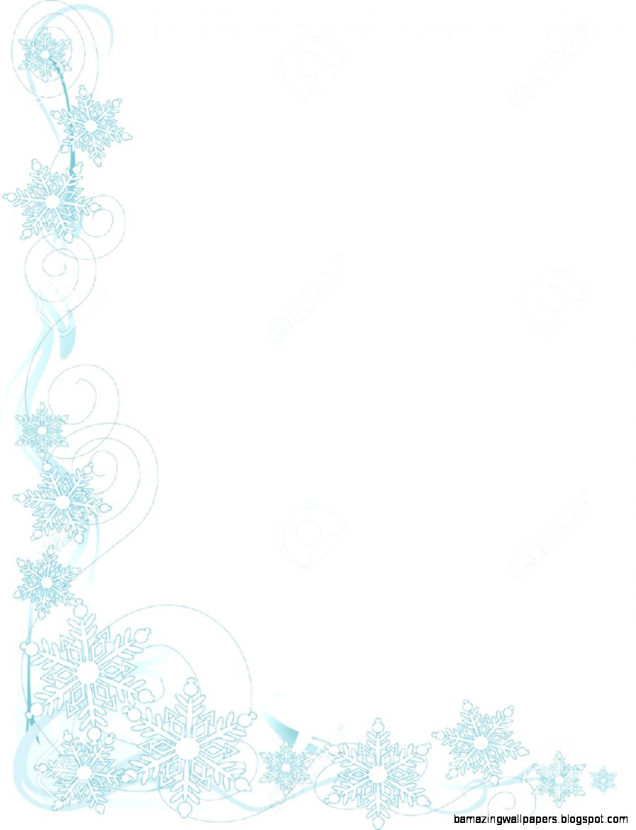 A Border Or Frame Featuring Stylized Snowflakes Royalty Free
