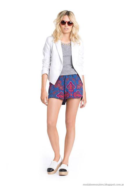 Shorts verano 2016 moda verano 2016. Kevingston Mujer verano 2016.