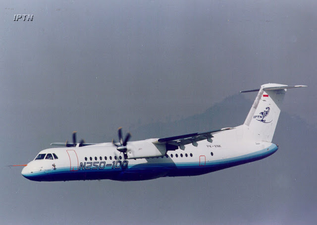 Pesawat N-250 Produksi IPTN / PT Dirgantara Indonesia