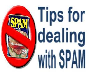 tips for dealing with spam