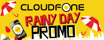 CloudFone Rainy Day Promo, Get As Much As Php3,000 Worth of Discounts