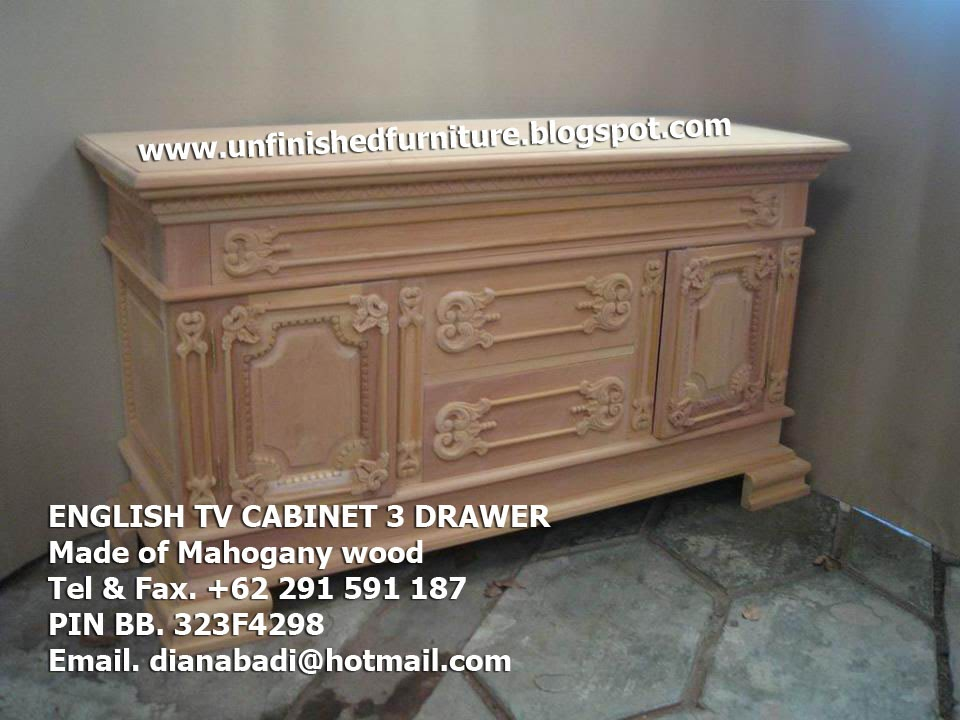 Mebel Klasik Furniture klasik bufet tv klasik english style tv cabinet mahogany supplier tv cabinet solid mahogany , supplier bufet tv mentah unfinished mahoni jepara