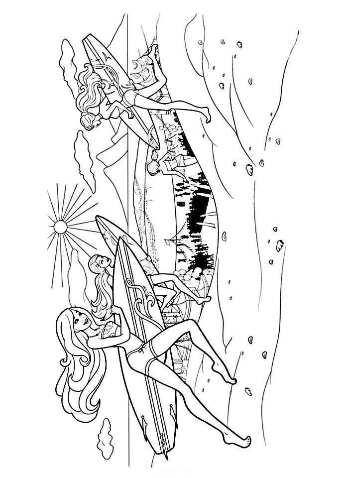 desenhos para colorir  62 desenhos da barbie sereia para