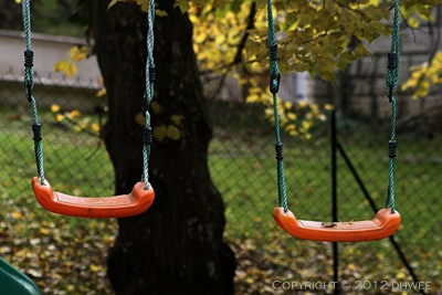 swing, swings, 2, two, autumn, fall, seaso, orange