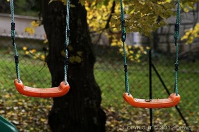 swing, swings, 2, two, autumn, fall, seaso, orange