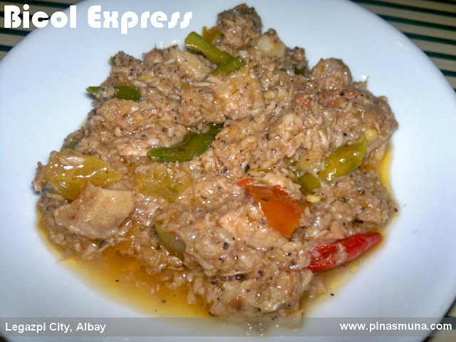 Bicol Express of Small Talk Cafe Legazpi City