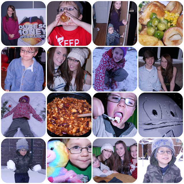 snow, food, new year