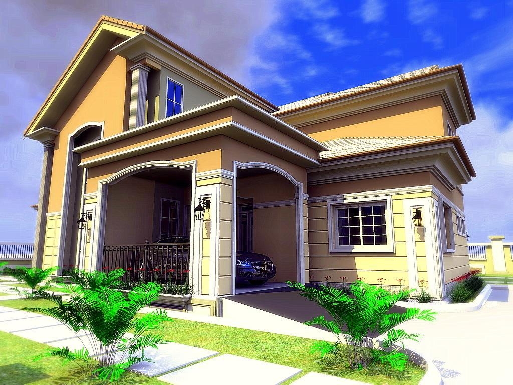Residential homes and public designs 3 bedroom bungalow for Www bungalow design