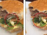 Baru Habis Sebagian, Konsumen Temukan Ulat Hidup di Burgernya