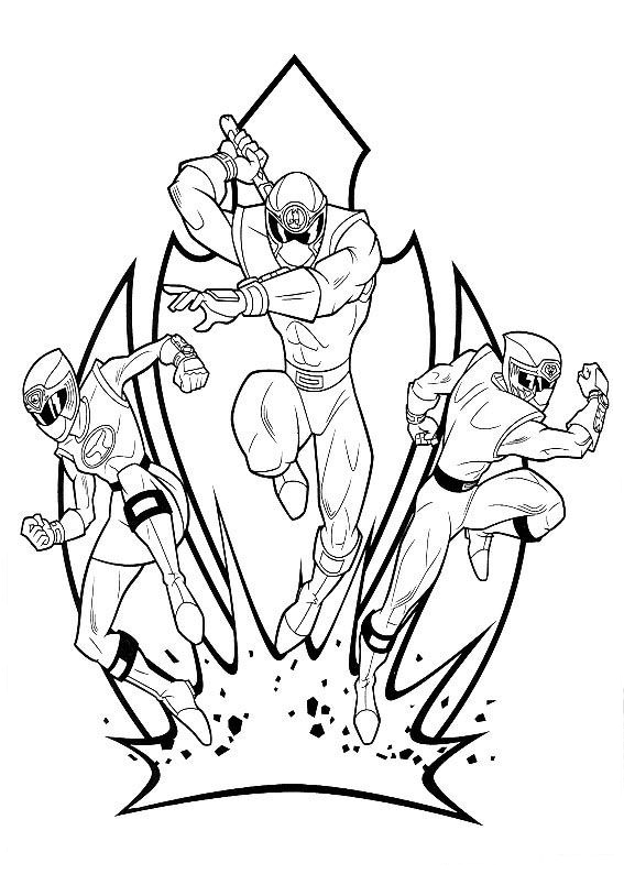 Power Rangers Printable Coloring Pages title=