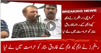 Rangers in Action:- MQM's Farooq Sattar taken