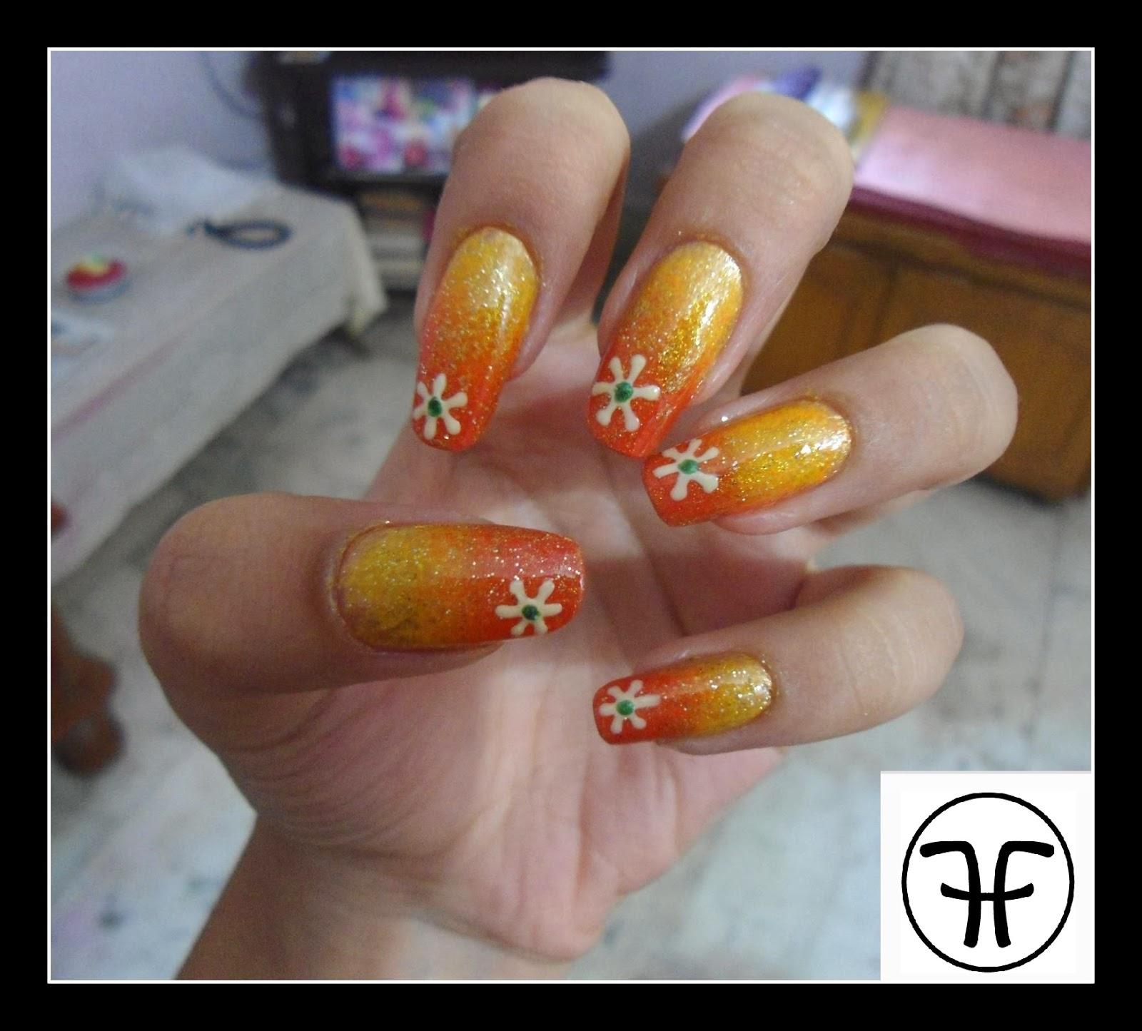 FashHunny: Nail Art Tutorial : Summer Ombre Nails