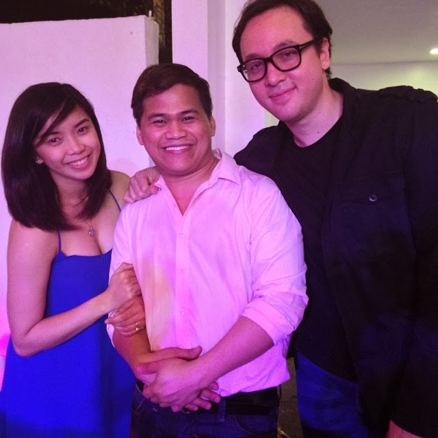 Fille Cainglet and Lino Cayetano with Ogie Diaz