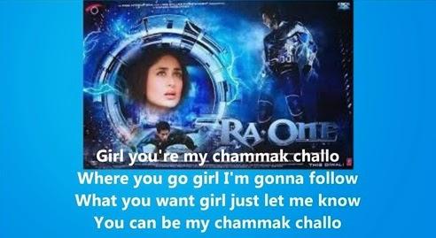 "Lirik lagu ""Akon ft Hamsika Iyer"" - Chammak Challo"