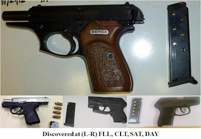 4 loaded pistols.