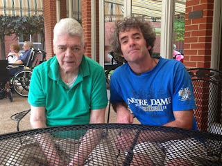 James Anthony O'Toole on Father's Day, 6-15-14, with his son, Thomas Augustine (aka Fighting Irish Thomas).