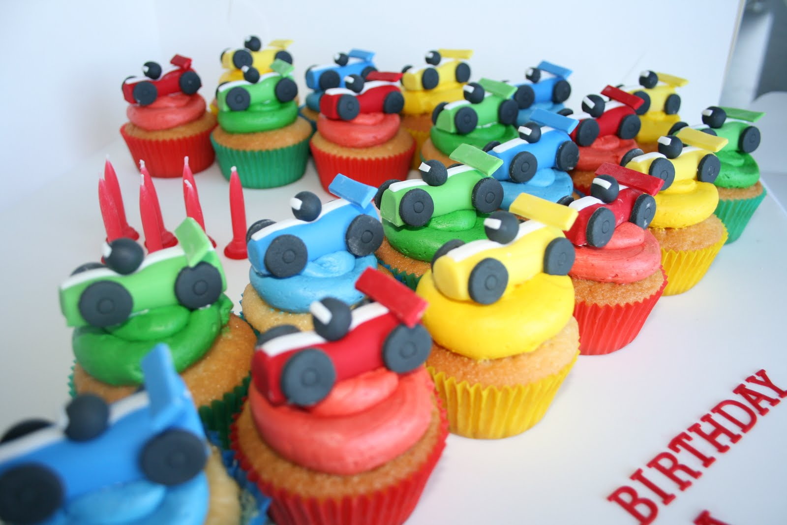 Baked By Design Racing Car Cupcakes