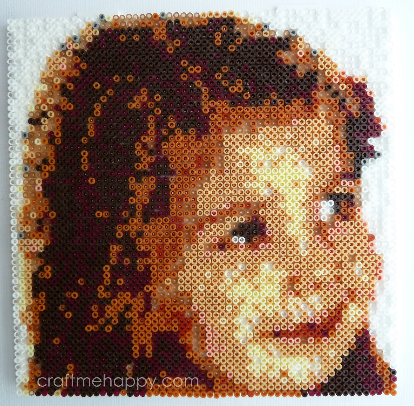 How to create your own hama bead portrait craft me happy for Bead craft ideas for kids