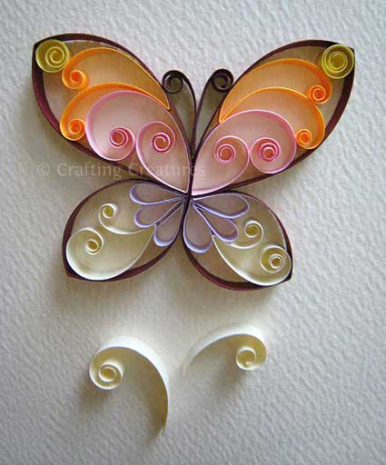 crafting creatures butterfly quilling pattern tutorial