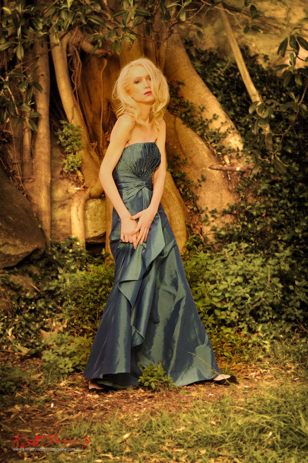 Evening dress in magical parkland setting - Kent Johnson Photography