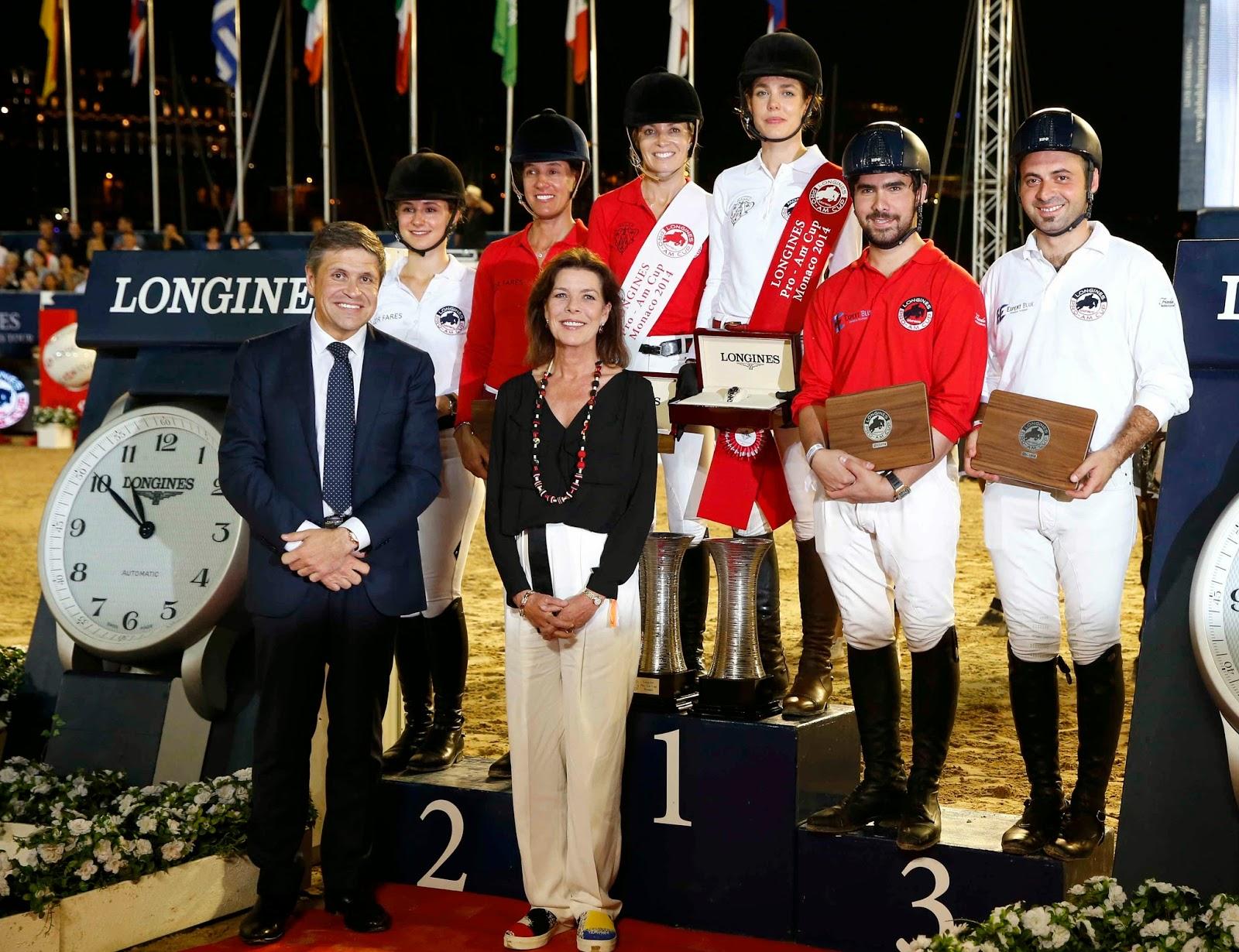 LONGINES Conquest, Global Champions Tour 2014 Montecarlo, Charlotte Casiraghi, Juan Carlos Capelli, Carolina di Monaco, pro am cup, equitazione, show jumping