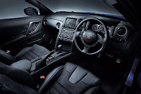 New 2012 MY Nissan GT-R official press media photo image picture high resolution original source facelift revised remodelled remodeled new generation enhanced restyled special exclusive edition black seats recaro alcantara denim velvet leather