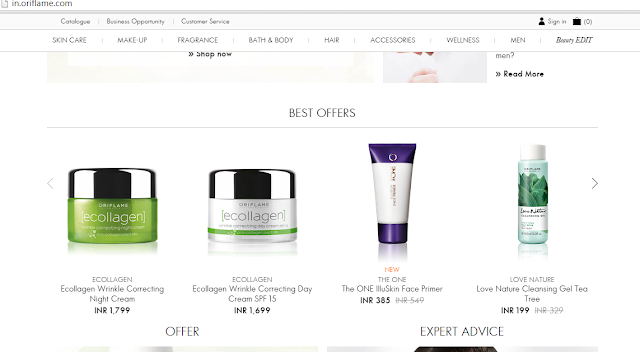 Oriflame Website Offers