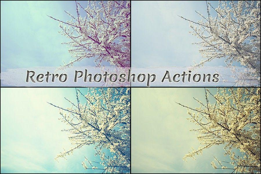 retro photoshop actions