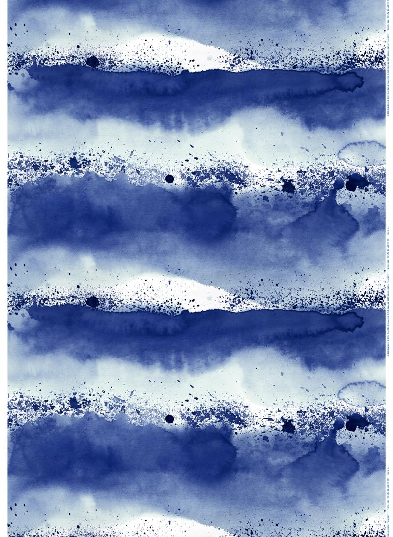 Marimekon sininen luovikangas