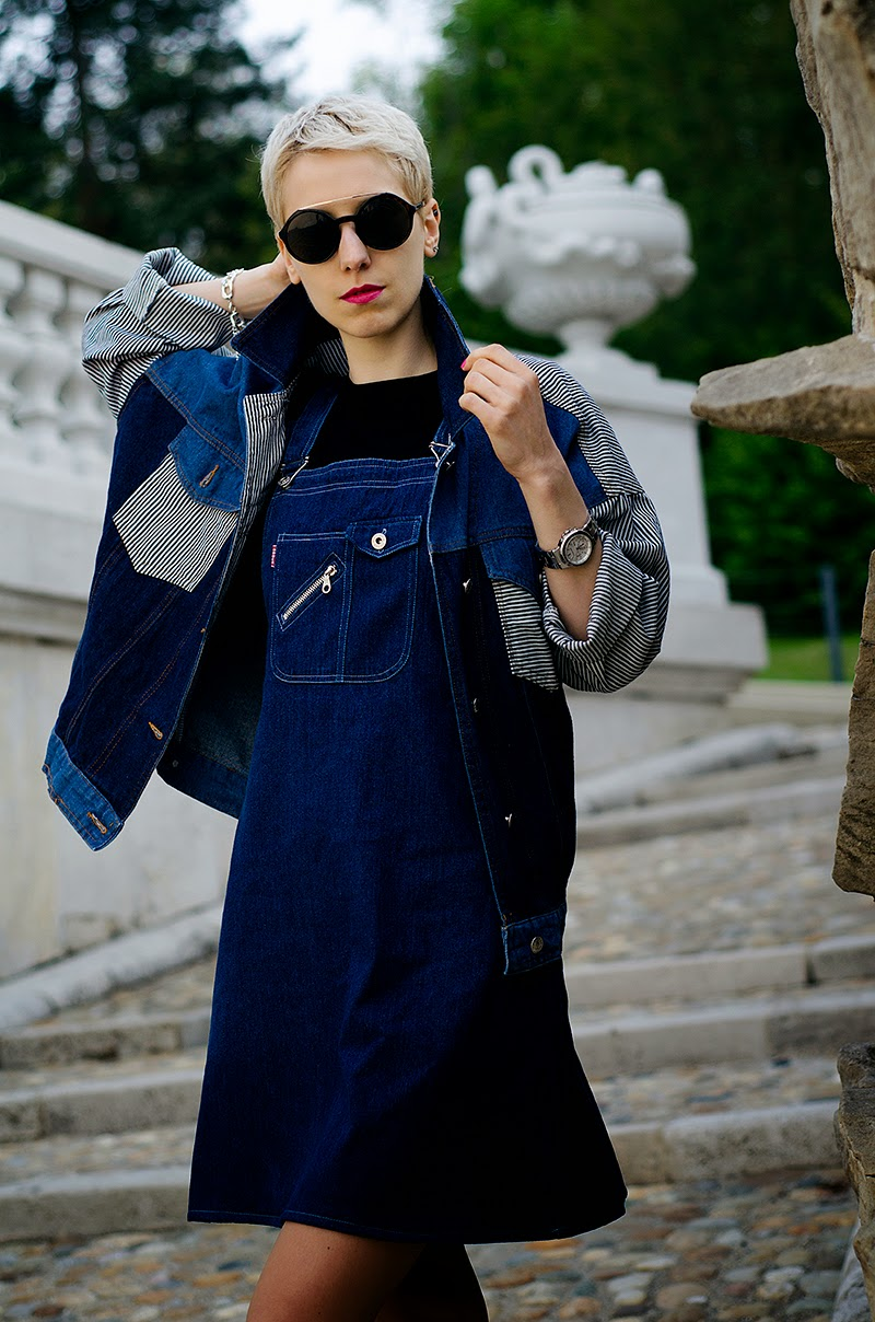 denim dungarees denim jacket mules beeswonderland