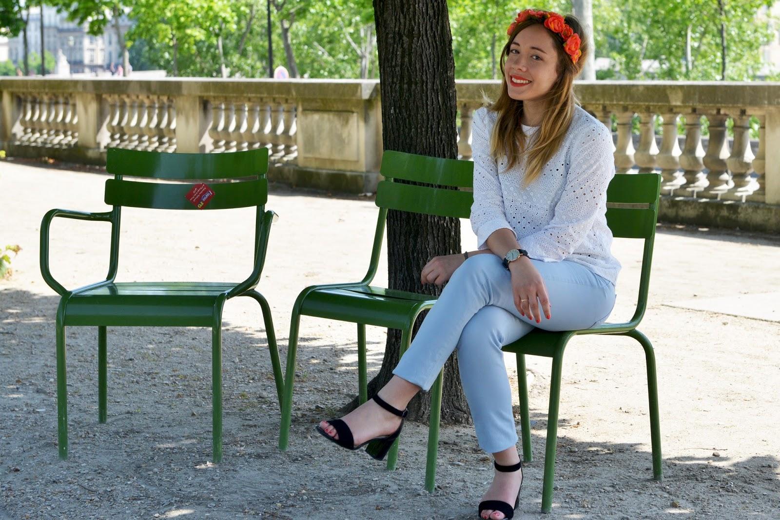 Chaises jardin des tuileries