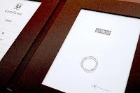 リメイク(リ・スタイル)したリングにデザイナーのデザイン画を添えてプレゼント。
