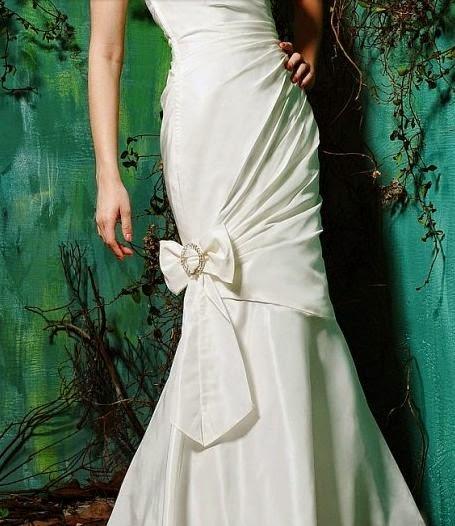 Vestido de Novia Sirena con Lazo en las Piernas