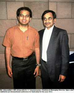 Zahoorullah S MD and Dr. V. Satyanarayana Chairman & MD Sipra Labs