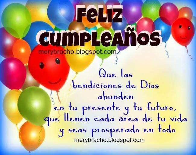bendiciones en tu cumpleaños
