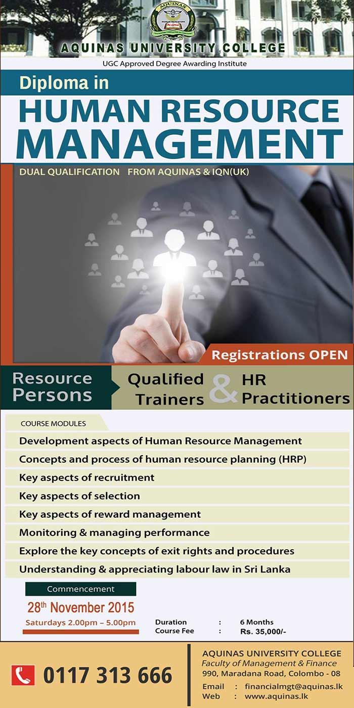 Diploma in Human Resource Management- New Intake