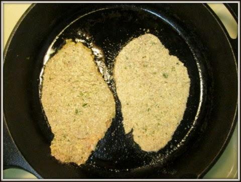 cooking schnitzel