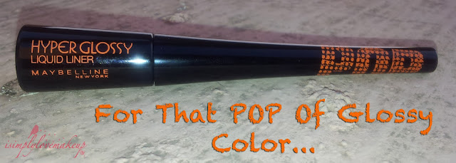 Review of Maybelline Hyperglossy Pop Liquid Liner In Tangerine Orange