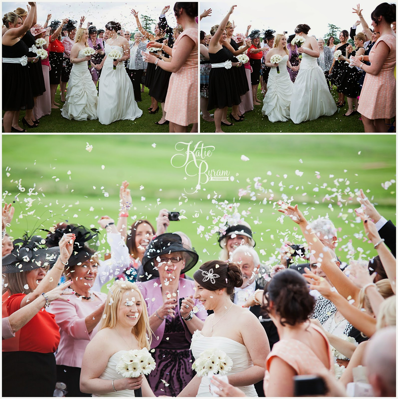 confetti, matfen hall wedding, matfen hall, northumberland wedding, newcastle united wedding, lesbian wedding, two bride wedding, lgbt wedding, gay wedding, civil partnership, powder and pin ups make up, katie byram photography, bride and bride, two weddiing dresses, mao couture bridal, jean hepple florist,