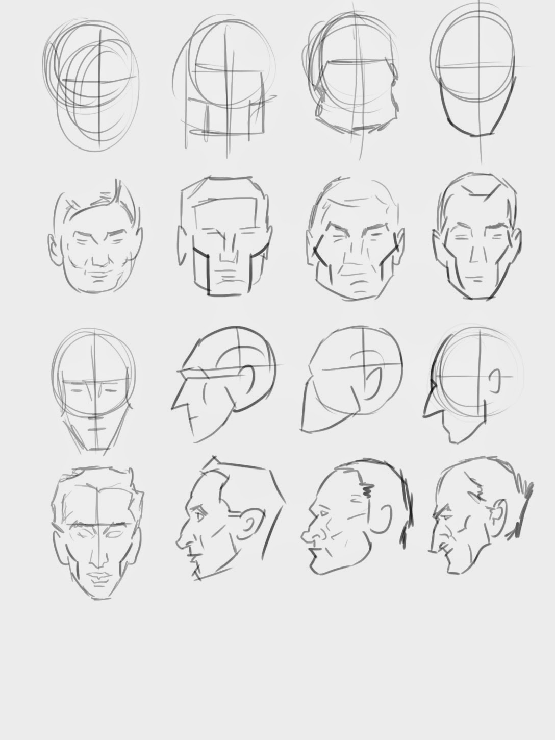 how to draw faces structure