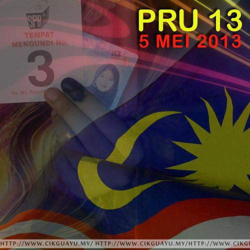 PRU13, Pilihanraya, dakwat kekal, mengundi, 2013, tempat mengundi