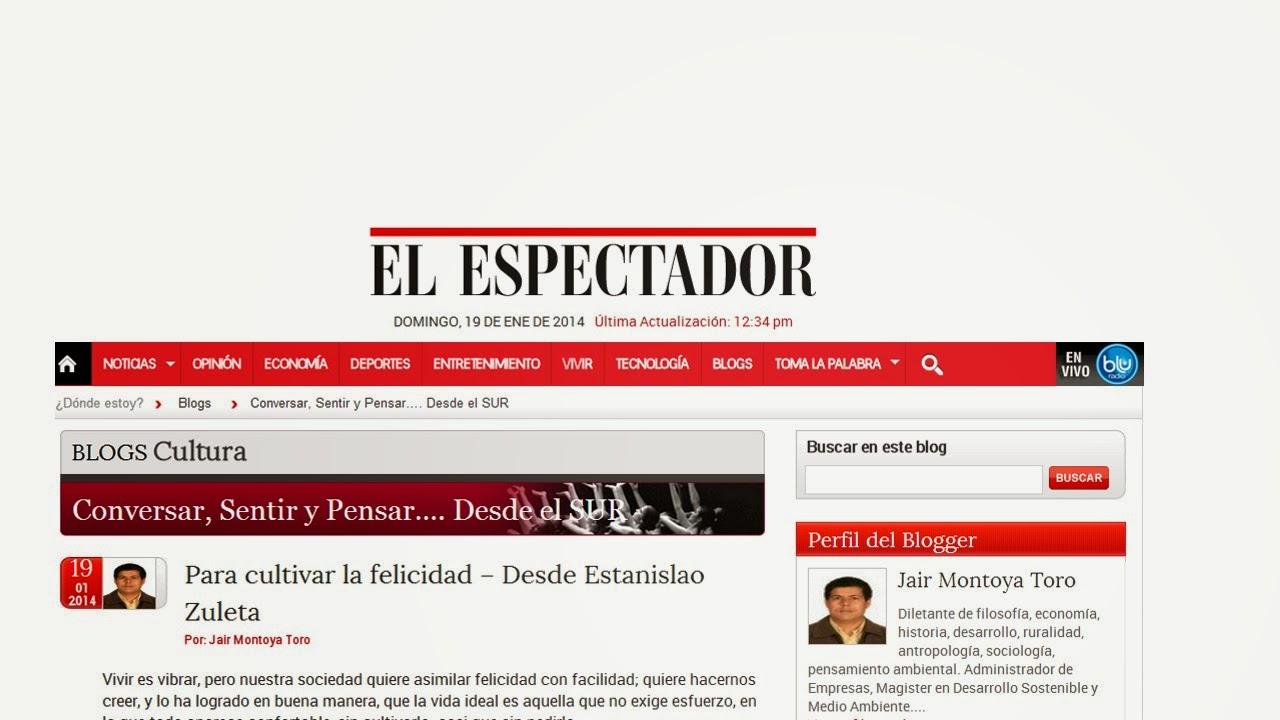 Publicaciones de este blog en el periódico El Espectador