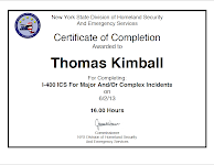 Thomas Q Kimball I-400 ICS for Major and/or Complex Incidents