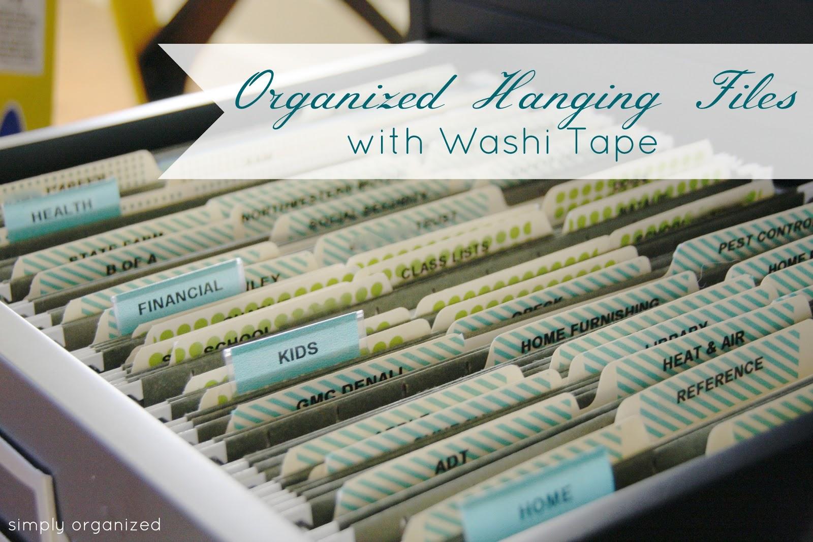 organized hanging files